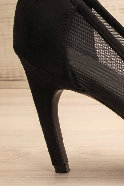 Ningyo Black Heels | Talons Noirs | La Petite Garçonne side back close-up
