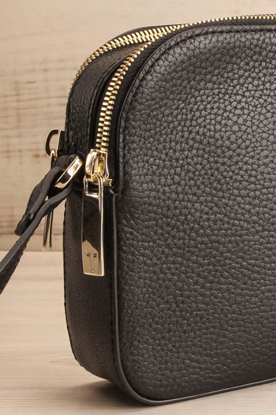 Niran Black Crossbody Bag | Sac | La Petite Garçonne Chpt. 2 side close-up