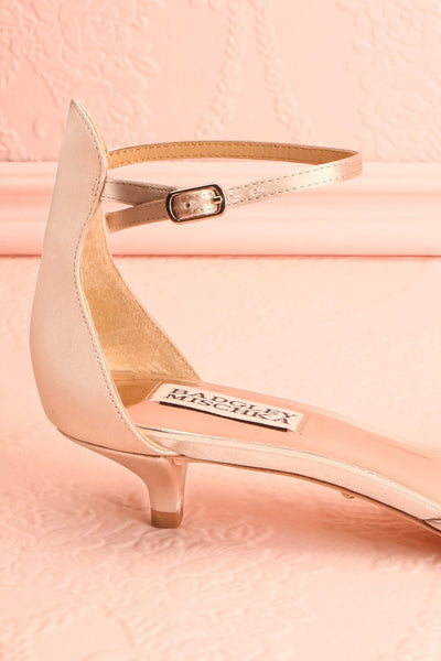 Nollet Beige Satin Kitten Heels with Crystals | Boudoir 1861 6