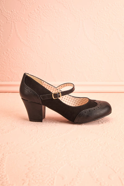 Noortje Black Art Deco Heels | Chaussures | Boutique 1861 side view