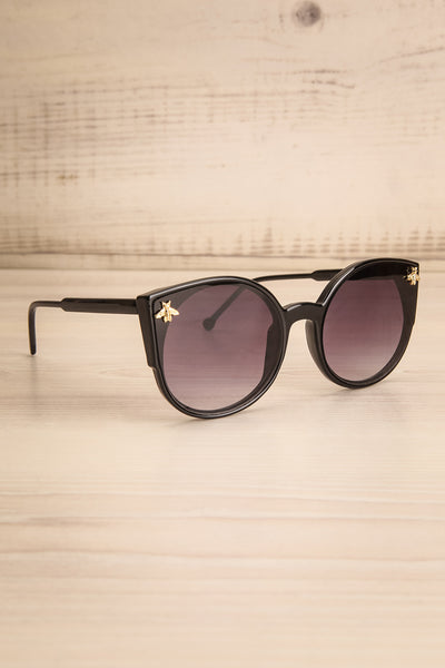 Oincio Black Embellished Butterfly Sunglasses side view | La Petite Garçonne