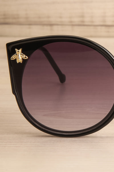 Oincio Black Embellished Butterfly Sunglasses front close-up | La Petite Garçonne