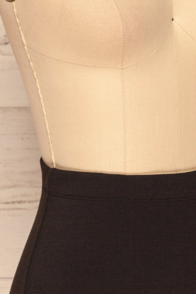 Olecko Noir Black Short Wrap Skirt | SIDE CLOSE UP | La Petite Garçonne