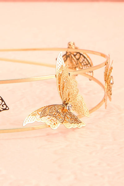 Olena Silver Headband w/ Butterflies | Boutique 1861 flat close-up