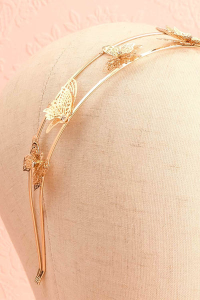 Olena Silver Headband w/ Butterflies | Boutique 1861 close-up