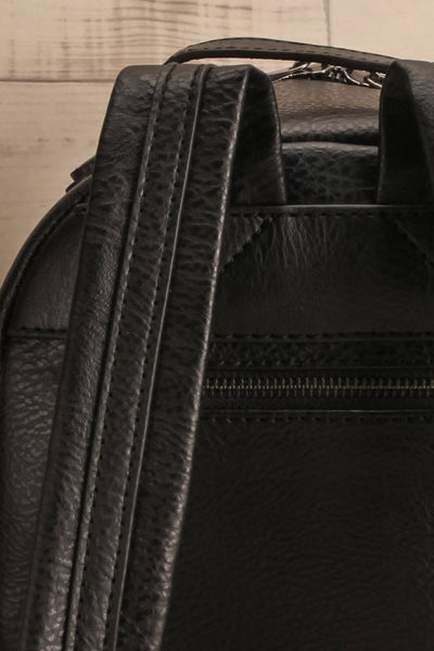 Olly Black Vegan Leather Backpack | La Petite Garçonne Chpt. 2 7