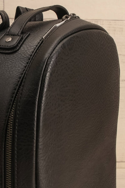Olly Black Vegan Leather Backpack | La Petite Garçonne Chpt. 2 5