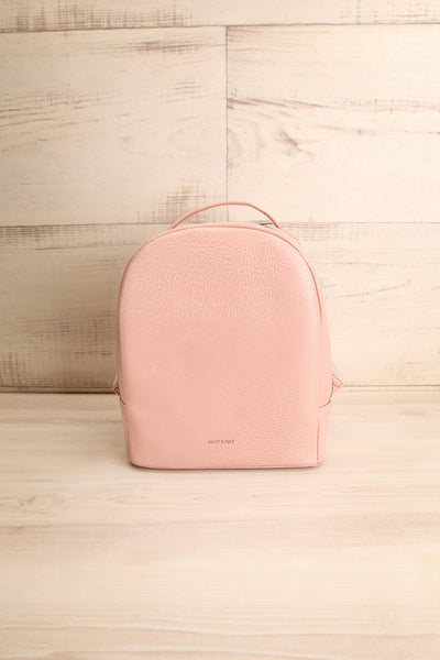 Olly Rose Light Pink Vegan Leather Backpack | La Petite Garçonne
