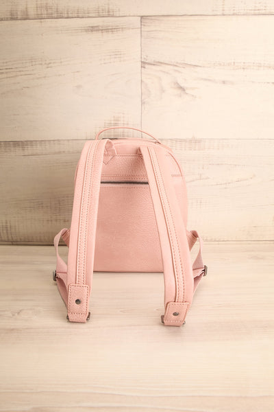 Olly Rose Light Pink Vegan Leather Backpack Back View | La Petite Garçonne