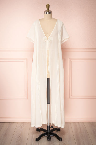 Onojo Cream Short Sleeved Long Kimono | Boutique 1861