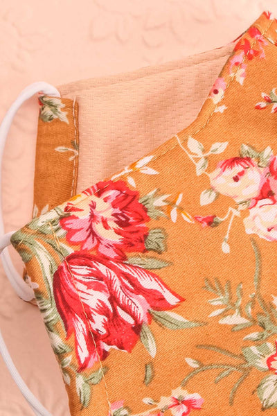 Orange Bouquet Face Mask | Boutique 1861 inside close-up
