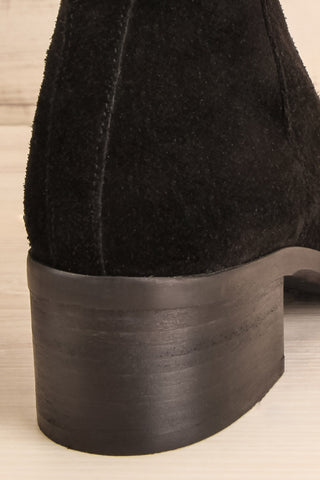 Ormesson Black Suede Ankle Boots back close-up | La Petite Garçonne Chpt.2