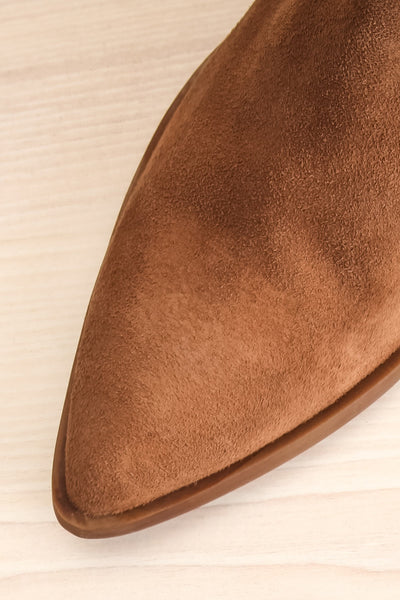 Ormesson Taupe Suede Ankle Boots | La Petite Garçonne Chpt.2 flat close-up