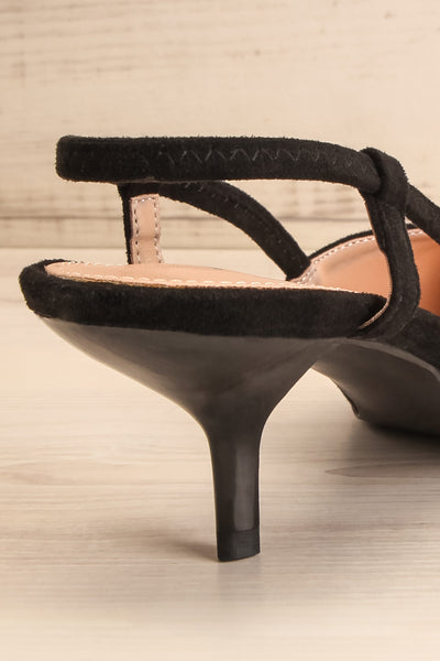 Pacanier Pointed Toe Heels | Talons | La Petite Garçonne back close-up