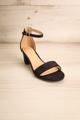 Pajol Coffee Black Low Block Heel Sandals | La Petite Garçonne 3