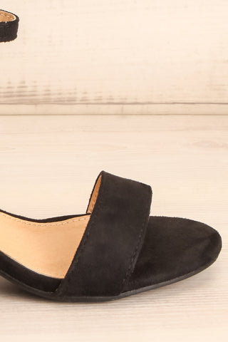 Pajol Coffee Black Low Block Heel Sandals | La Petite Garçonne 7