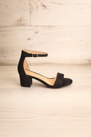 Pajol Coffee Black Low Block Heel Sandals | La Petite Garçonne 5