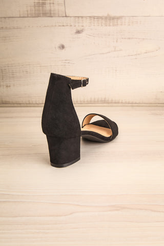 Pajol Coffee Black Low Block Heel Sandals | La Petite Garçonne 8