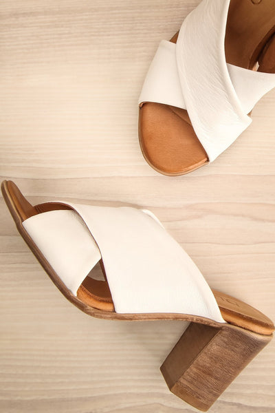 Palestou White Leather Heeled Sandals | La Petite Garçonne Chpt. 2