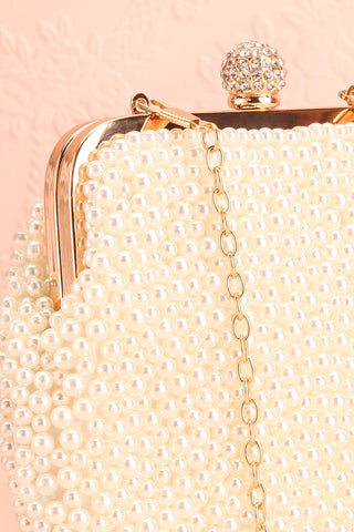 Antiope Pearl Crossbody Clutch side close-up | Boudoir 1861