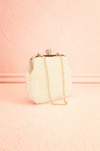 Antiope Pearl Crossbody Clutch side view | Boudoir 1861