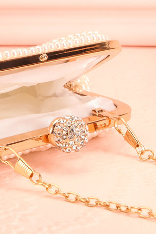 Antiope Pearl Crossbody Clutch inside close-up | Boudoir 1861