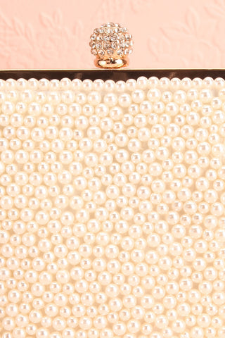 Antiope Pearl Crossbody Clutch clasp close-up | Boudoir 1861