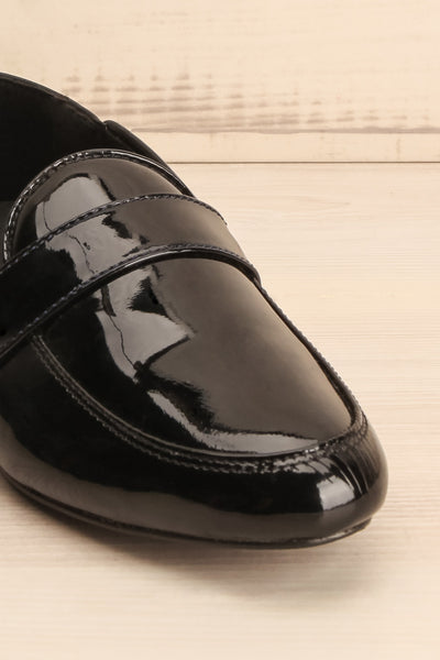 Papeete Black Dress Loafers with Buckles front close-up | La Petite Garçonne Chpt. 2 5