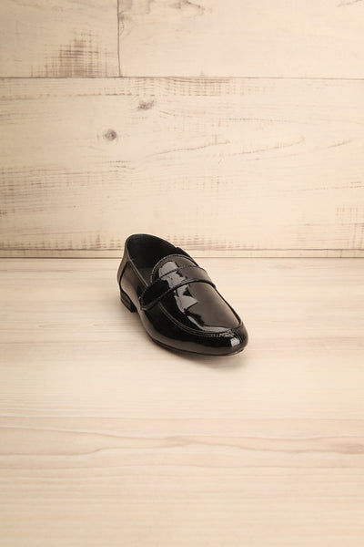 Papeete Black Dress Loafers with Buckles front view | La Petite Garçonne Chpt. 2 4