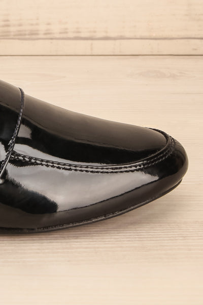 Papeete Black Dress Loafers with Buckles side front close-up | La Petite Garçonne Chpt. 2 8