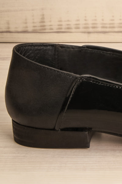 Papeete Black Dress Loafers with Buckles side back close-up | La Petite Garçonne Chpt. 2 7