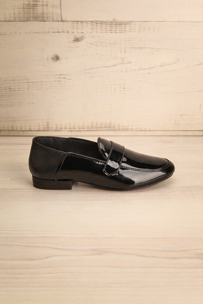 Papeete Black Dress Loafers with Buckles side view | La Petite Garçonne Chpt. 2 6