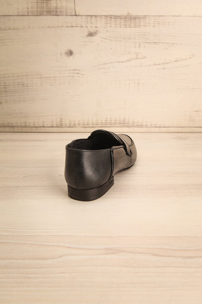 Papeete Black Dress Loafers with Buckles back view | La Petite Garçonne Chpt. 2 9