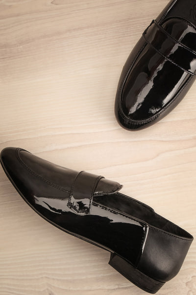 Papeete Black Dress Loafers with Buckles flat lay | La Petite Garçonne Chpt. 2