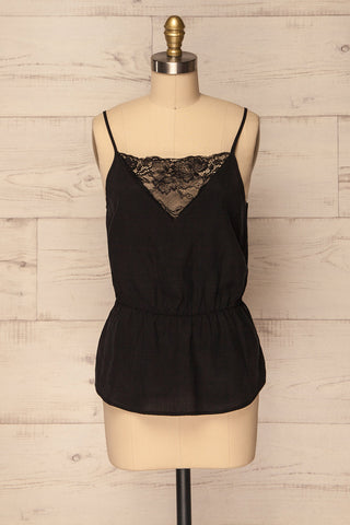 Paridera Black Lightweight Camisole with Lace | La Petite Garçonne
