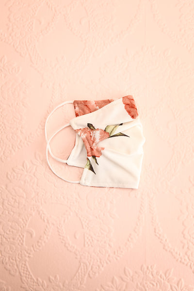 Peony Pleated Face Mask | Boutique 1861 lining view