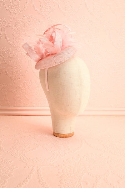 Perdita Pink Fascinator w/ Feathers | Boutique 1861