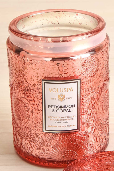 Medium Jar Candle Persimmon & Copal | La petite garçonne open close-up