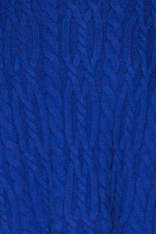 Pertosa Royal Blue Batwing Sleeves Sweater | La Petite Garçonne fabric detail