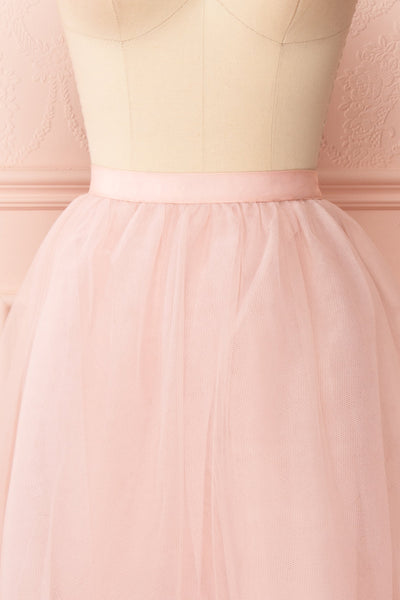 Philana Dusty Pink A-Line Tulle Skirt | Boutique 1861 front close-up