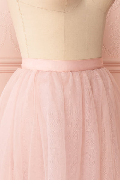 Philana Dusty Pink A-Line Tulle Skirt | Boutique 1861 side close-up