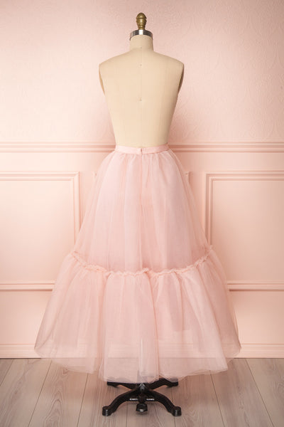 Philana Dusty Pink A-Line Tulle Skirt | Boutique 1861 back view