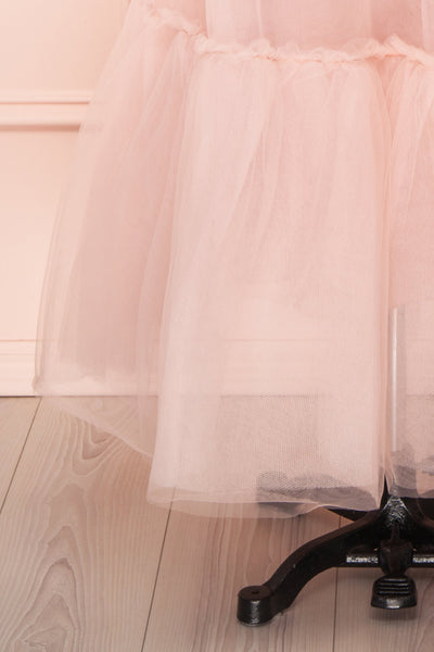 Philana Dusty Pink A-Line Tulle Skirt | Boutique 1861 bottom close-up