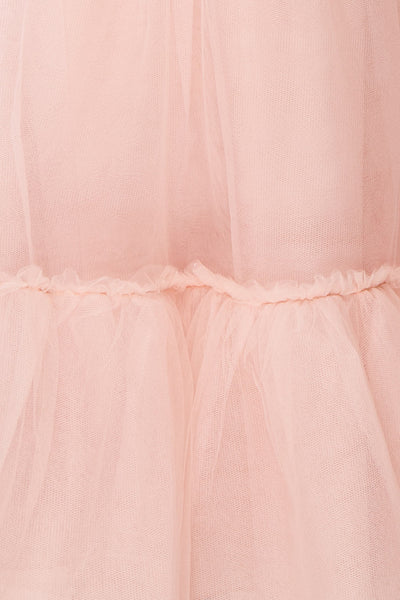 Philana Dusty Pink A-Line Tulle Skirt | Boutique 1861 fabric details