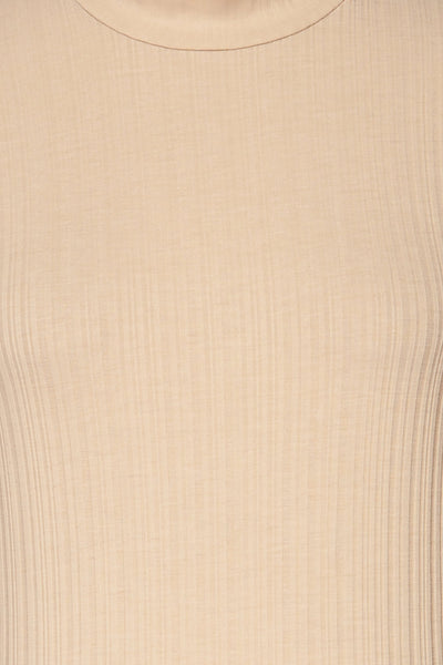 Pieszyce Cream White Mock Neck Top fabric | La petite garçonne