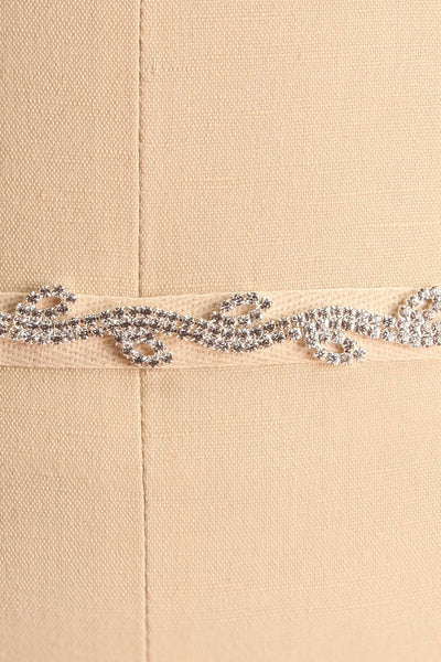 Planta White Ribbon Belt with Crystals Ornament | Boudoir 1861 4