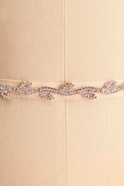 Planta Rosegold Ribbon Belt w/ Crystals | Boudoir 1861 close-up