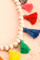 Plantago Vif - Three beads and tassels necklaces