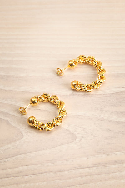 Plecta Gold Plated Twist Hoop Earrings | La Petite Garçonne Chpt. 2