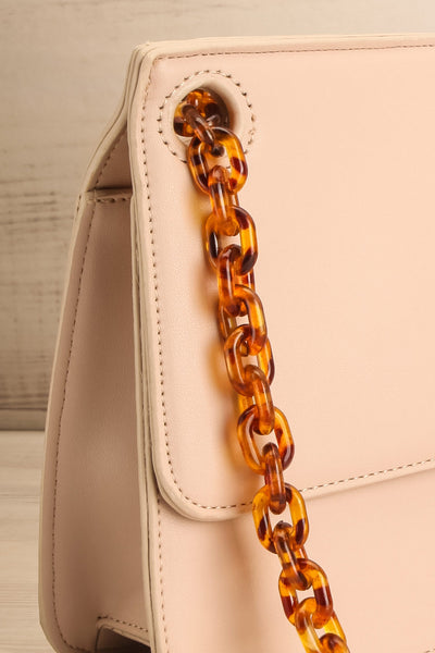 Poole Beige Rectangular Crossbody Bag side close-up | Boutique 1861